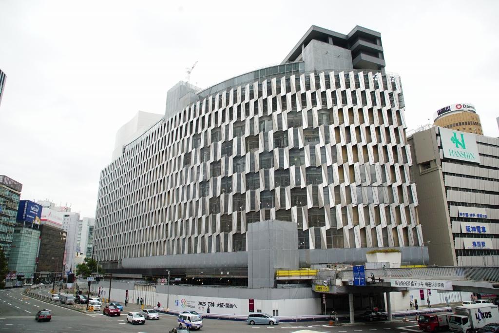 【2018/01】リニューアル中の阪神百貨店「大阪神ビル」の工事状況を見てきました