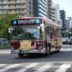 近鉄バスの復刻塗装車が走っていたので撮ってきました