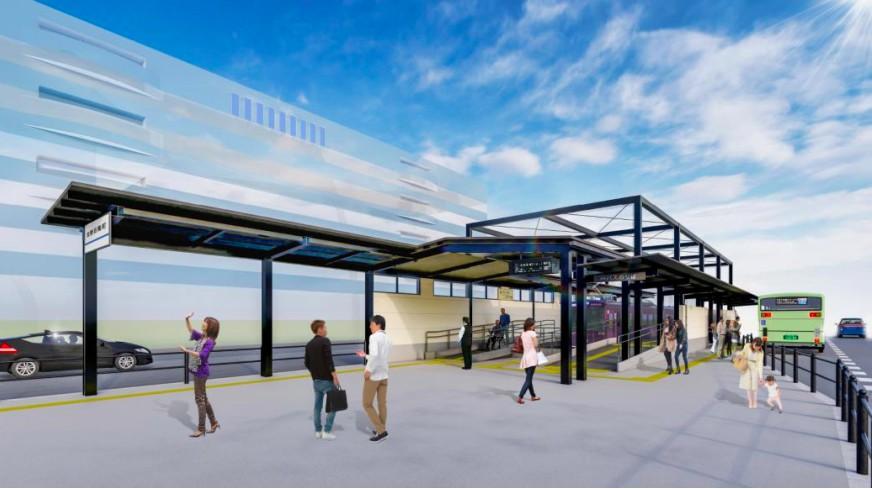 【嵐電】リニューアルされる北野白梅町駅の完成予想図が公開…大きな駅舎とはお別れへ。