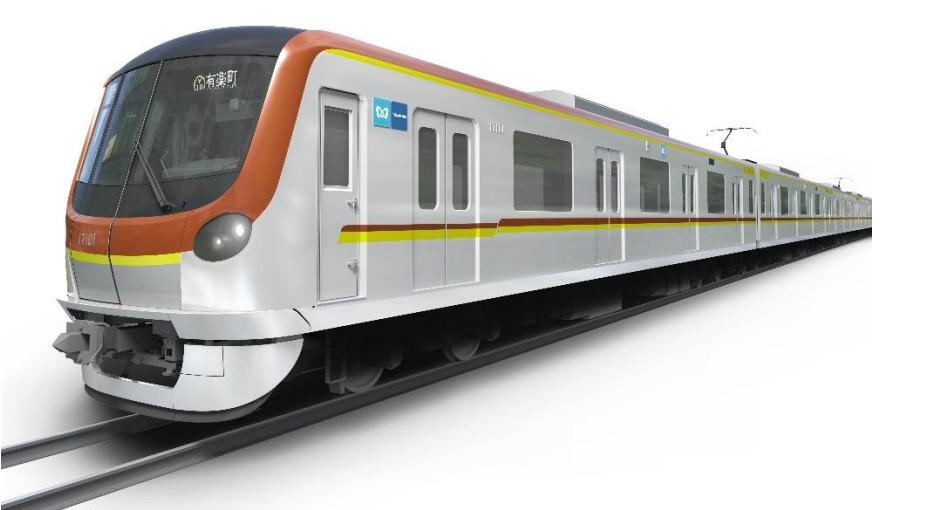 【東京メトロ】副都心線・有楽町線に新型17000系を投入。2020年度下半期予定、7000系代替へ