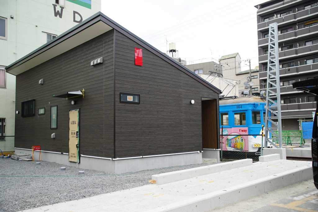 【阪堺】恵美須町駅が移転?新築ホームの基礎らしきものが現れる