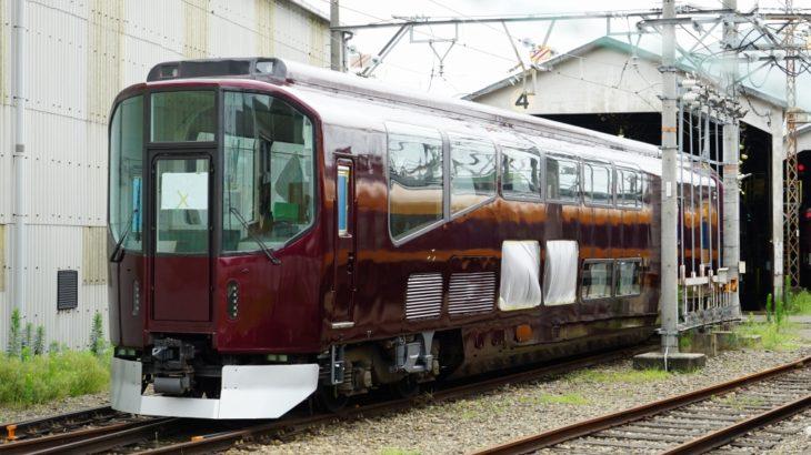 【近鉄】20000系団体列車「楽」、リニューアル車両が姿を見せる