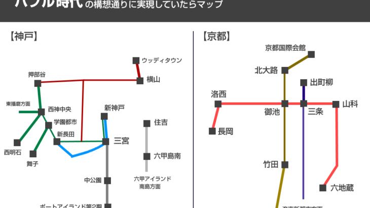 バブル時代の構想通りに京都・神戸の鉄道が出来るとこうなる