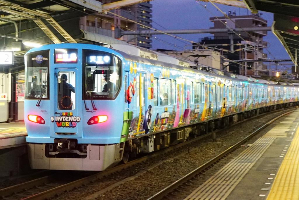 【大阪環状線・USJ】マリオの電車が運行開始!LS15編成が担当