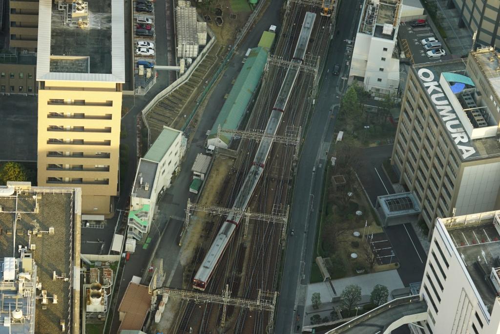 日本一高い「あべのハルカス」から見える電車を撮ってきた