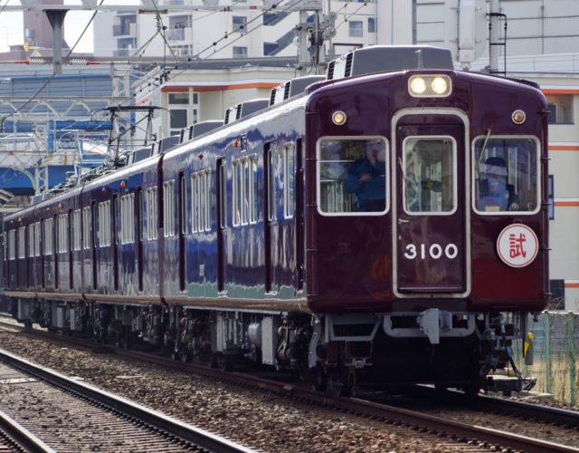 阪急3077F、試運転時の写真