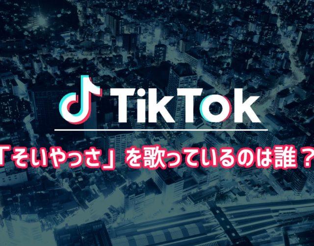 【Tiktok】「そいやっさ」を歌っているのは誰?