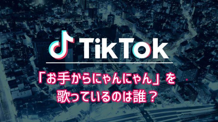 【Tiktok】「お手からにゃんにゃん」を歌っているのは誰?