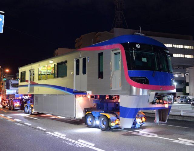 【大阪モノレール】4本目の新車3153F、陸送搬入!