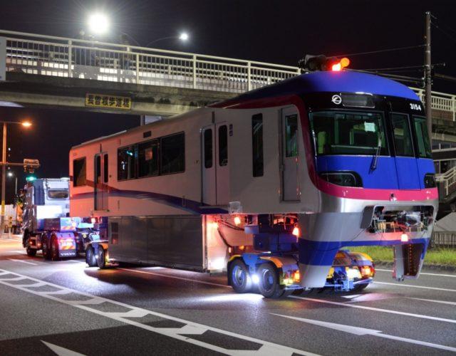 【大阪モノレール】5本目の新車3154F、陸送搬入!